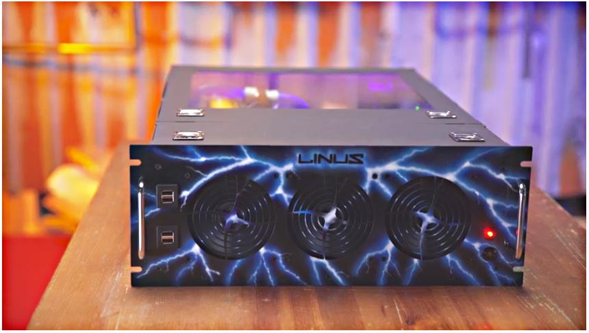Linus Sebastian's PC - Front View