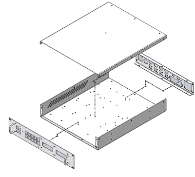 Wireframe of rackmount enclosure