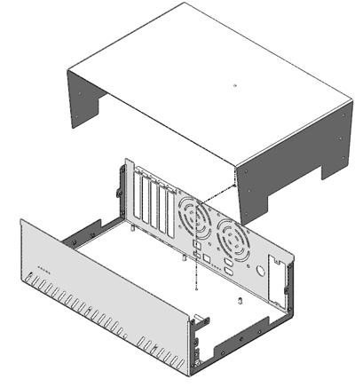 The bottom piece of a U-Shape enclosure has the shape of a U.