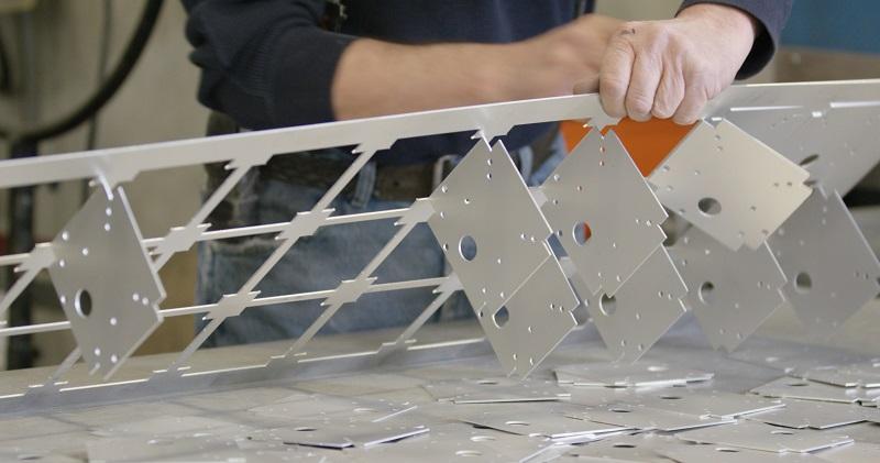 White powdercoated panels