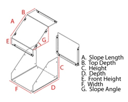 L-Shape enclosure dimensions