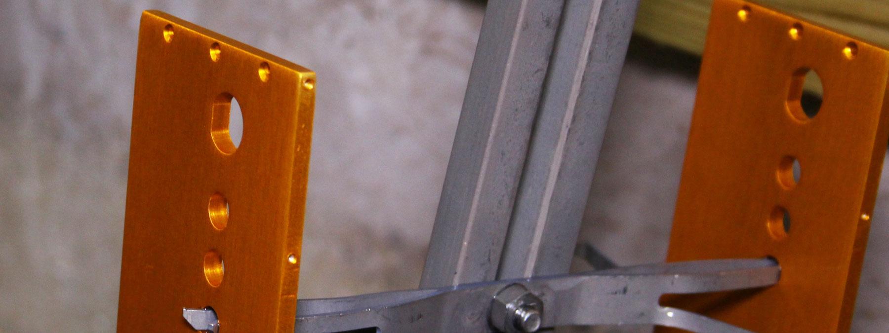 Anodized Aluminum - Orange Dye