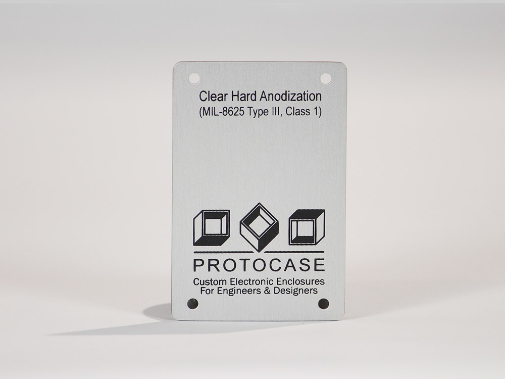 Clear Hard Anodize (Mil-A-8625 Type III, Class 1)