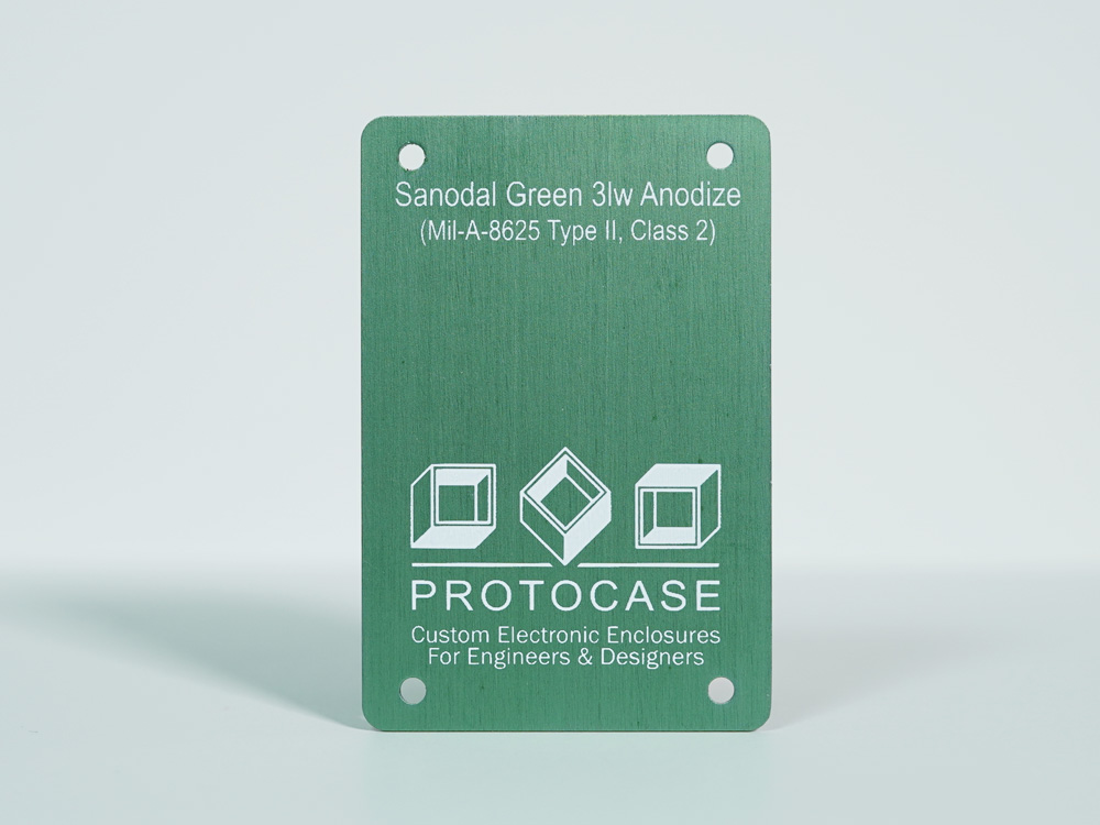 Sanodal Green 3lw Anodize (Mil-A-8625 Type II, Class 2)
