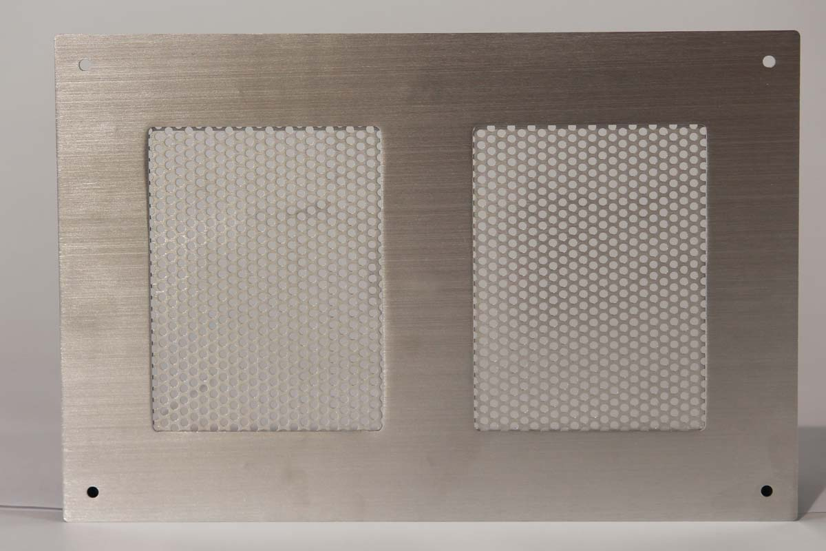 Perforated Aluminum Sheet Metal with Grained Finish