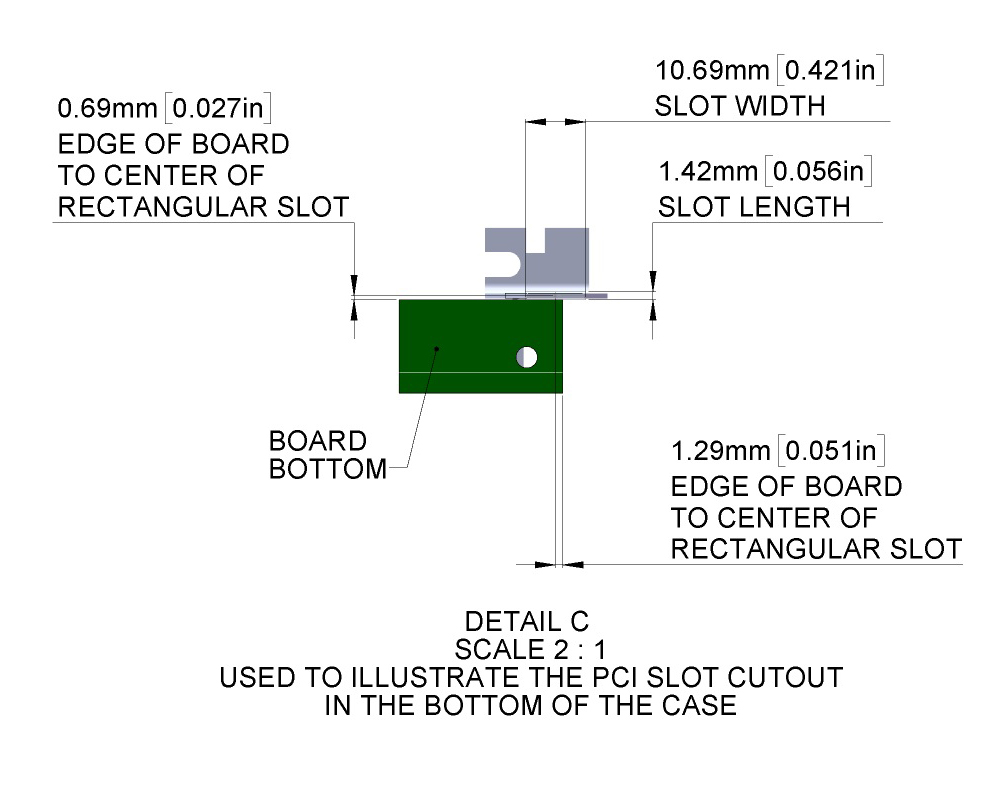 How To Design Custom Enclosures For Motherboard Based Systems Pcb Spacer Support M4 Corner Edge Holding Circuit Board Figure 112 Bottom View Detail