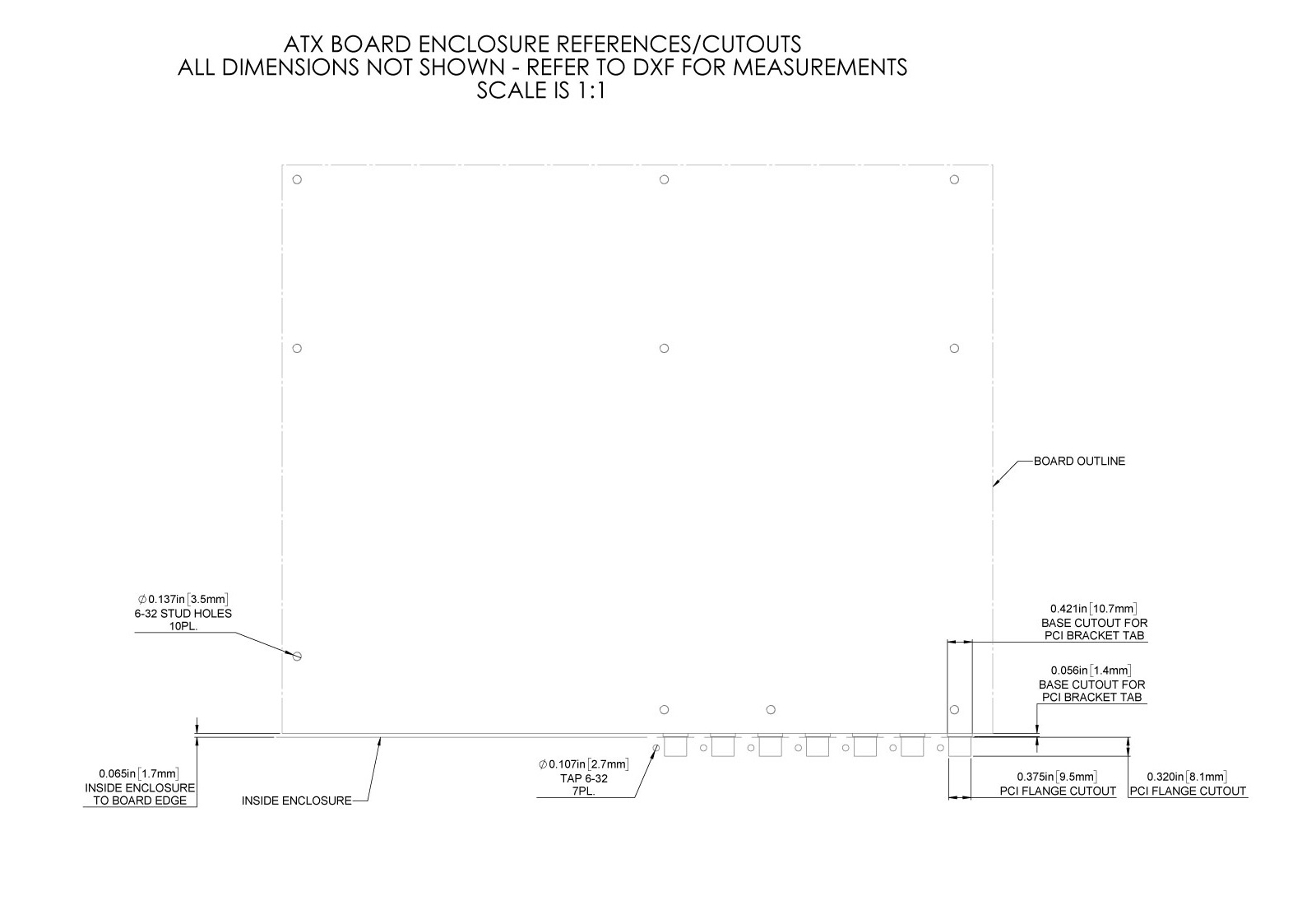 How To Design Custom Enclosures For Motherboard Based Systems Panel Board Schematic Figure 131 Atx Enclosure Back I O Cutouts